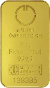 MUNZE20 Austrian Mint Gold Bar - pr.999,9 - 20 g